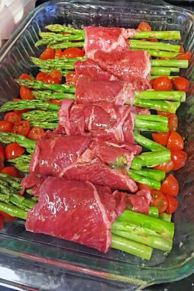 Steak Wrapped Asparagus Image