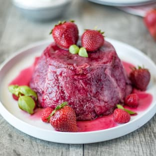 English summer pudding photo
