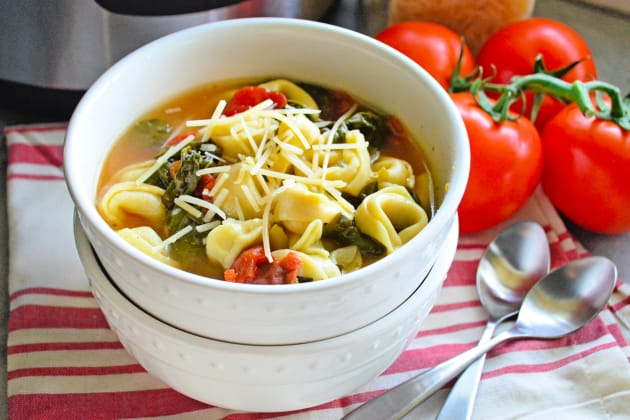Instant Pot Tortellini Soup with Spinach Photo