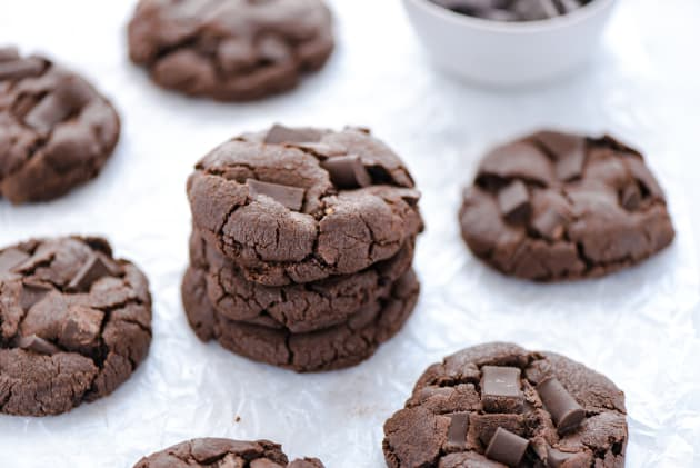 Gluten Free Double Chocolate Chunk Cookies Image