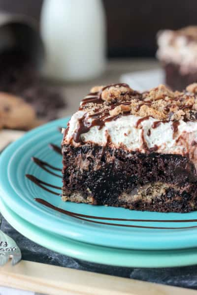 Chocolate Chip Cookie Poke Cake Picture