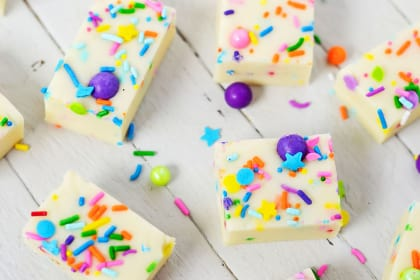 Gluten Free Cake Batter Fudge