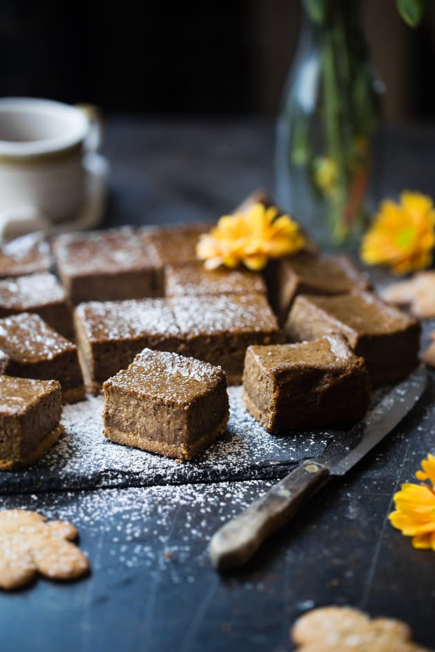 Gingerbread Coffee Vegan Cheesecake Bars Image