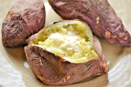 Japanese Sweet Potato with Honey Butter