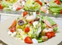 Mediterranean Shrimp Wedge Salad