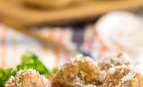 Gluten Free Baked Turkey Meatballs Image
