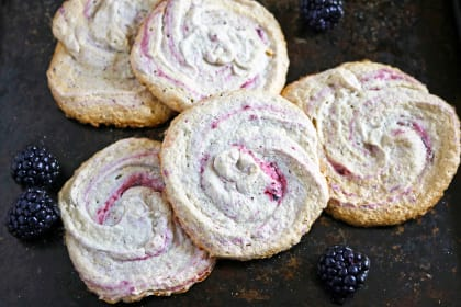 Blackberry Meringue Cookies