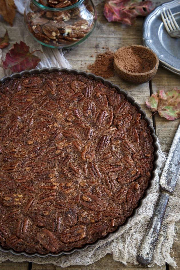 Paleo Chocolate Pecan Tart Picture