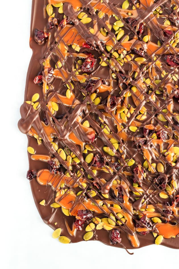 Cranberry Pumpkin Seed Salted Caramel Bark Picture