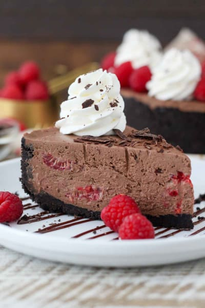 No-Bake Chocolate Raspberry Cheesecake Pic