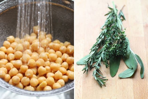 Quinoa Chickpea Spinach Soup Ingredients Picture