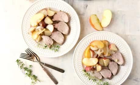 Apple Cider Pork Tenderloin with Potatoes and Apples Recipe