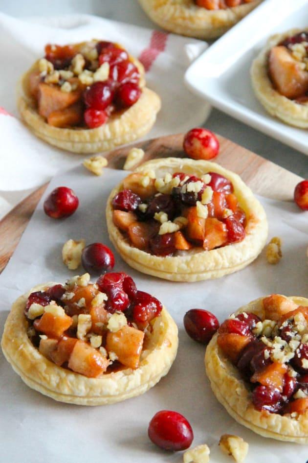 Cranberry Apple Walnut Tarts Pic