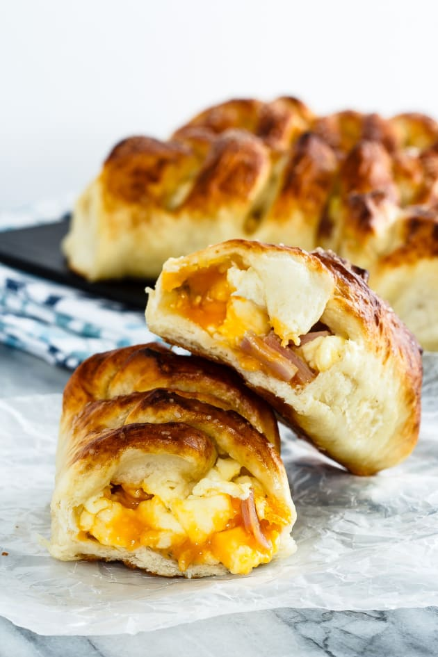 Ham, Egg and Cheese Pretzel Rolls Picture
