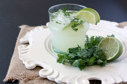 Cilantro Vodka Limeade: Fresh and Fine