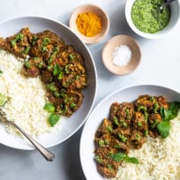 Indian Spiced Chicken with Cashew Cilantro Pesto Recipe