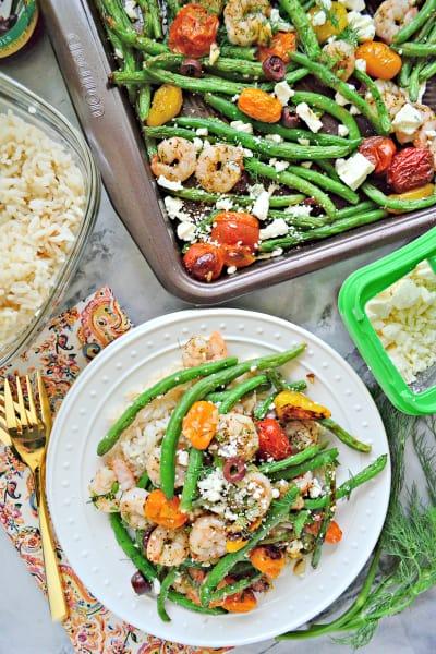 Sheet Pan Greek Shrimp Dinner Pic