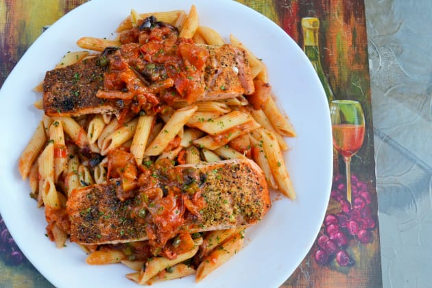 Salmon Puttanesca Recipe Food Fanatic