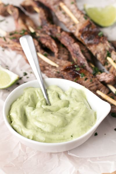 Cilantro Lime Grilled Beef Skewers Image