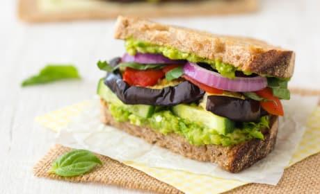 烤茄子三明治食谱