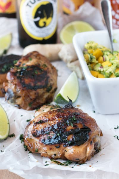 File 1 Spicy Ginger Grilled Chicken Thighs with Mango Avocado Salsa