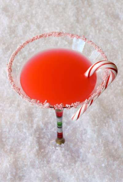 Candy Cane Martini Image