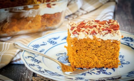 Pumpkin Snack Cake with Cream Cheese Frosting Recipe