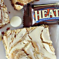 White Chocolate Toffee Peanut Butter Brownies