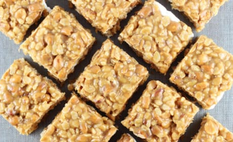 Peanut Butter Cookie Rice Krispie Bars Recipe