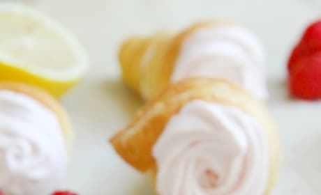 Lemon Raspberry Cream Horns Image
