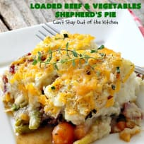 Loaded Beef and Vegetables Shepherd's Pie