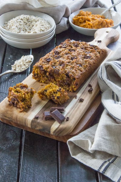 Dark Chocolate Oatmeal Pumpkin Bread Image