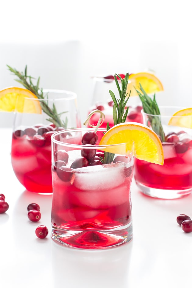 Cranberry Orange Bourbon Smash Image