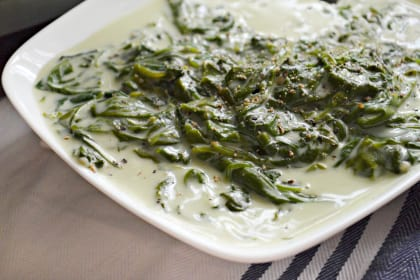 Slow Cooker Creamed Spinach