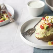 Greek Twice Baked Potatoes Recipe