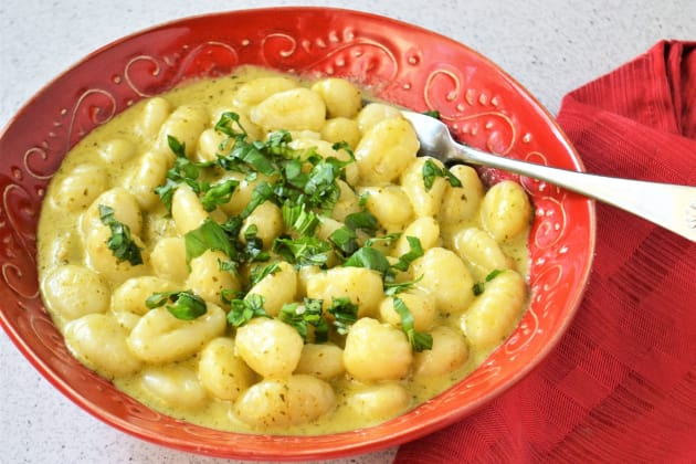 Creamy Pesto Gnocchi Photo