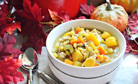 Turkey Butternut Squash and Lentil Soup Image