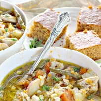 Herb-Roasted Chicken and Vegetable Soup