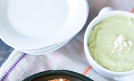 Mexican Arancini with Avocado Cilantro Dipping Sauce Image