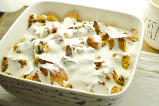 Cinnamon Raisin Bread Pudding Photo