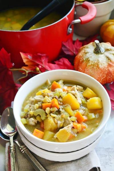 Turkey Butternut Squash and Lentil Soup Picture