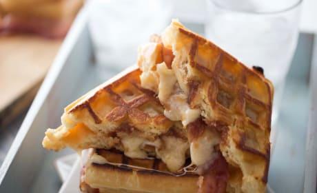 Apple Butter Bacon Waffle Sandwich Recipe