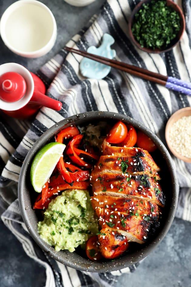 Korean Spicy Chicken Rice Bowls Image