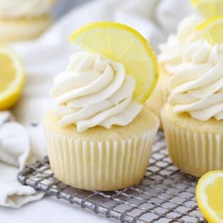 Lemon cupcake recipe photo