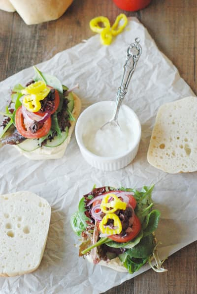 Greek Veggie Sandwich Image