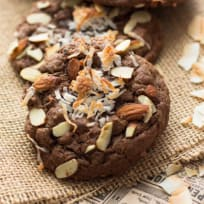 Double Chocolate Almond Joy Cookies Recipe