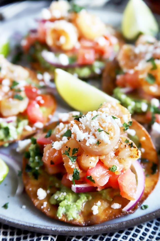 Honey Lime Shrimp and Guacamole Tostadas Picture