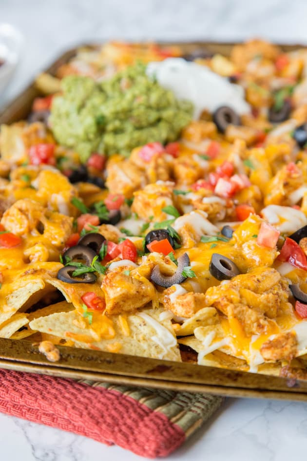 Sheet Pan Chicken Nachos Image