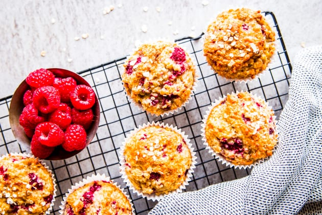 Gluten Free Raspberry Oatmeal Muffins Photo