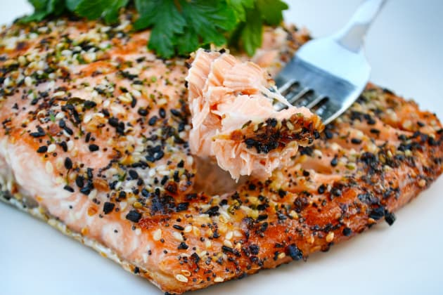 Roasted Salmon with Everything Bagel Spice Image